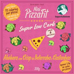 Mini PizzasFit - Abóbora com crisp de beterraba e castanhas