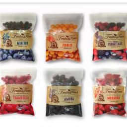 Frutas inteiras congeladas orgânicas fruta fina 550gr