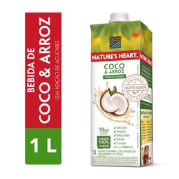 Bebida Vegetal Natures Heart Coco e Arroz 1l