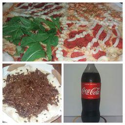 Pizza 45cm +pizza 25 Dice+ Refri