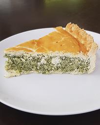 Torta Salgada De Espinafre Com Ricota - Fatia