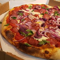 Pizza de Linguiça Artesanal e Búfala - Média