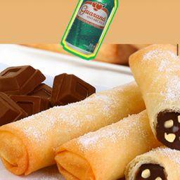 HARUMAKI NUTELLA e BANANA + GUARANÁ GRATIS