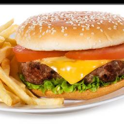 4700-Cheese Salada, fritas e refrigerante lata 350ml