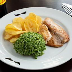 Tilápia com arroz de brócolis