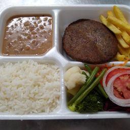 Econômico Hambúrguer de Soja ( Vegano )