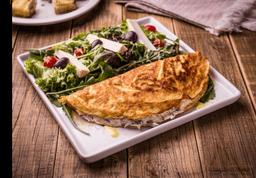 Omelete de Claras com Salada