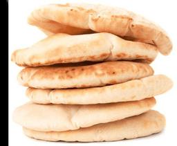 Pão pita  feito na hora