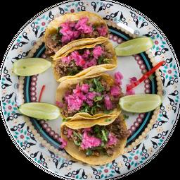 Tacos de Bistek com Queijo