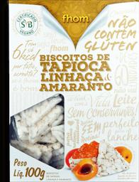 Biscoito Tapioca Linhaça Amaranto Fhom 100g