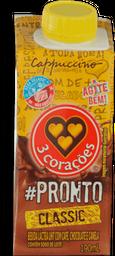 Bebida Láctea Cappuccino 3 Corações Classic 190mL