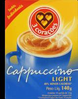 Cappuccino 3 Corações Light Sachê 140g