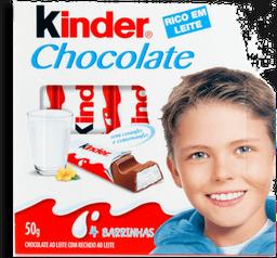 Chocolate Kinder com 4 Barras 50g