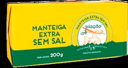 Manteiga Aviação Tablete Sem Sal 200g