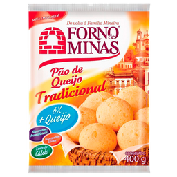 Pão De Queijo Forno Minas Congelado Tradicional 400 g