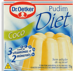 Pó para Pudim Diet Sabor Coco Dr. Oetker Caixa 25g
