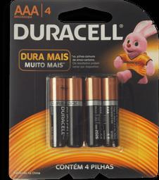 Pilhas Alcalinas AAA Palito Duracell 4 Unidades