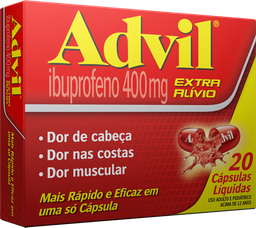 Advil Extra Alívio 400mg 20 U