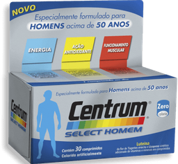 Complexo Vitamínico Centrum Select Homem 30 Comprimidos