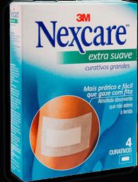 Curativos Nexcare 3M Extra Suave Tamanho Grande 4 Und