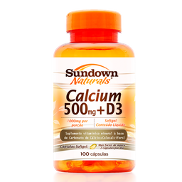 Calcium 500mg +D3 Sundown Naturals 100 Cápsulas