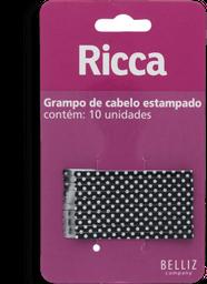 Grampo De Cabelo Ricca Style Poir Com 10 Unidades