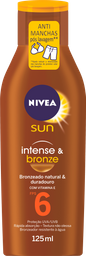 Loção Bronzeadora NIVEA SUN Intense & Bronze FPS6 125ml