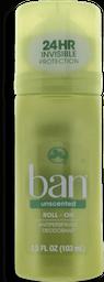 Desodorante Roll On Ban Unscented Sem Perfume 103 mL