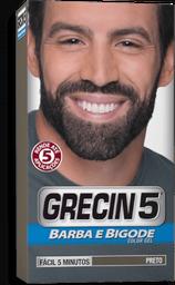 Gel Grecin 5 Coloração Preto Para Barba. Bigode E Costeletas