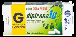 Dipirona Sódica Dipirona Neo Química 1 G 10 Comprimidos
