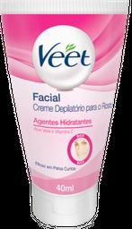 Creme Depilatorio Veet Facial Para Peles Delicadas 40 mL