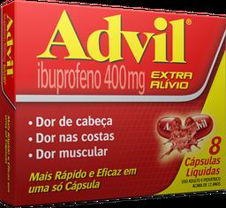Advil Extra Alívio 400mg 8U