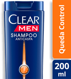 Shampoo Clear Men Anticaspa Queda Control 200Ml