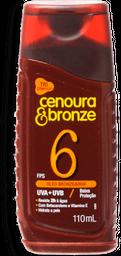 óleo Bronzeador Cenoura&Bronze FPS6 110ml