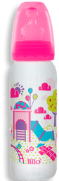 Mamadeira Lillo Divertida Rosa 240 mL