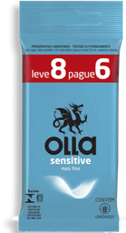 Olla Preservativo Lubrificado Sensitive Leve 8 Pague 6