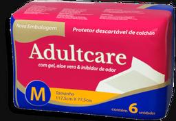Protetor De Colchão Adultcare Descartável Tamanho Único Com 6 Un