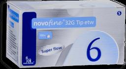 Agulha Novofine Descartável G32 6mm 100 unidades