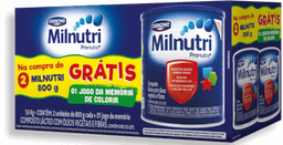 Pack Promocional Milnutri Premium 2x800g - Brinde Grátis