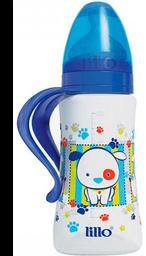 Mamadeira Lillo Design Azul Ortodôntico Silicone 300ml