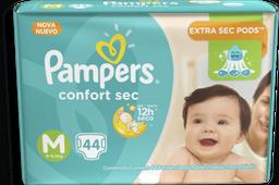 Pampers Confortsec Mega Tamanho M 44 Und
