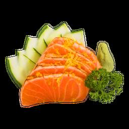 Sashimi de Salmão Flambado