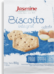 Biscoito Jasmine Salgado Cebola Integral 80 g