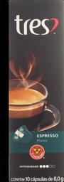 Cafe 3 Corações Capsula Espresso Descafeina 10 unidades 8g