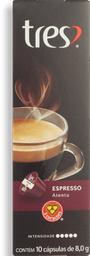 Cápsulas 3 Corações Café Espresso Atento 10U