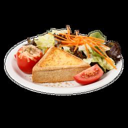 Quiche integral & salada