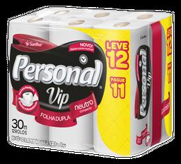 Papel Higiênico Personal Vip Folha Dupla Leve 12 U Pague 11 U