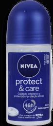 Desodorante Nivea Roll-On Protect&Care Feminino 50 mL