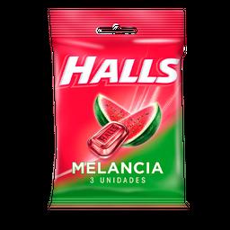 Bala HALLS Melancia (10 Unidades) 28g