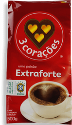 Café 3 Corações Extra Forte à Vácuo 500 g